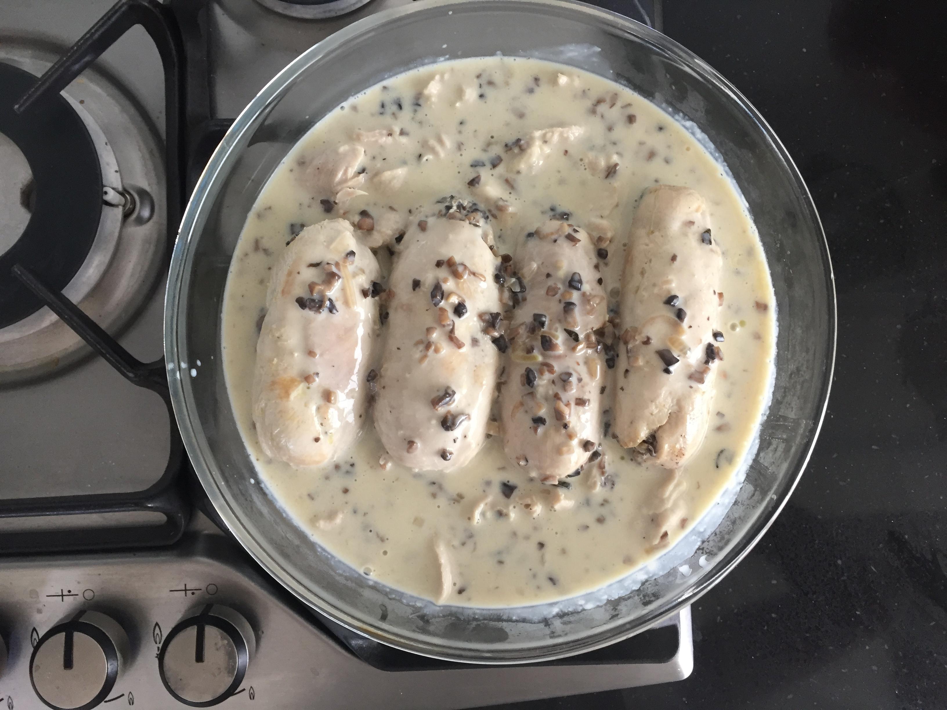 Ballottines de poulet aux champignons