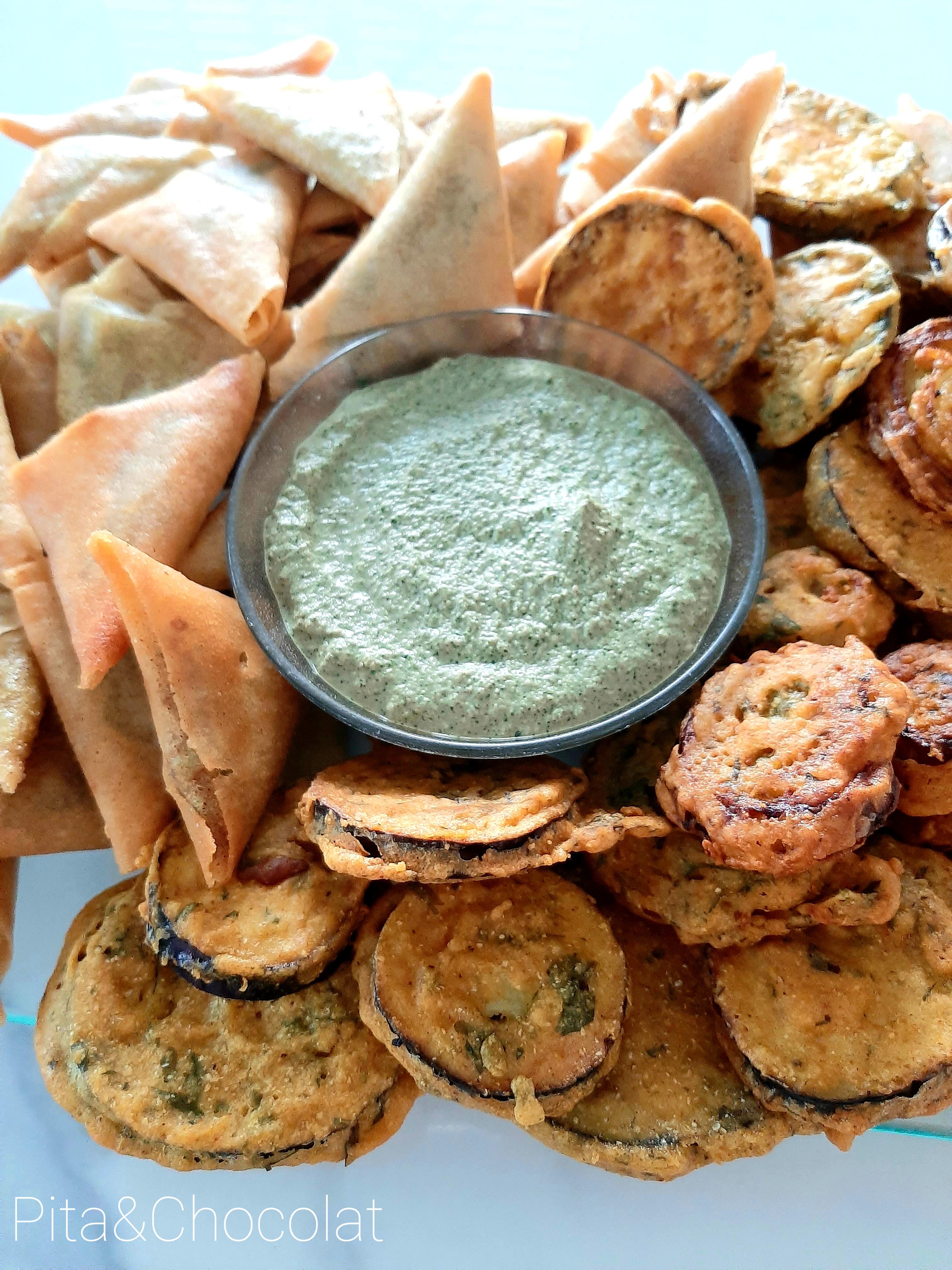 Sauce indienne - Chutney à la menthe et coriandre