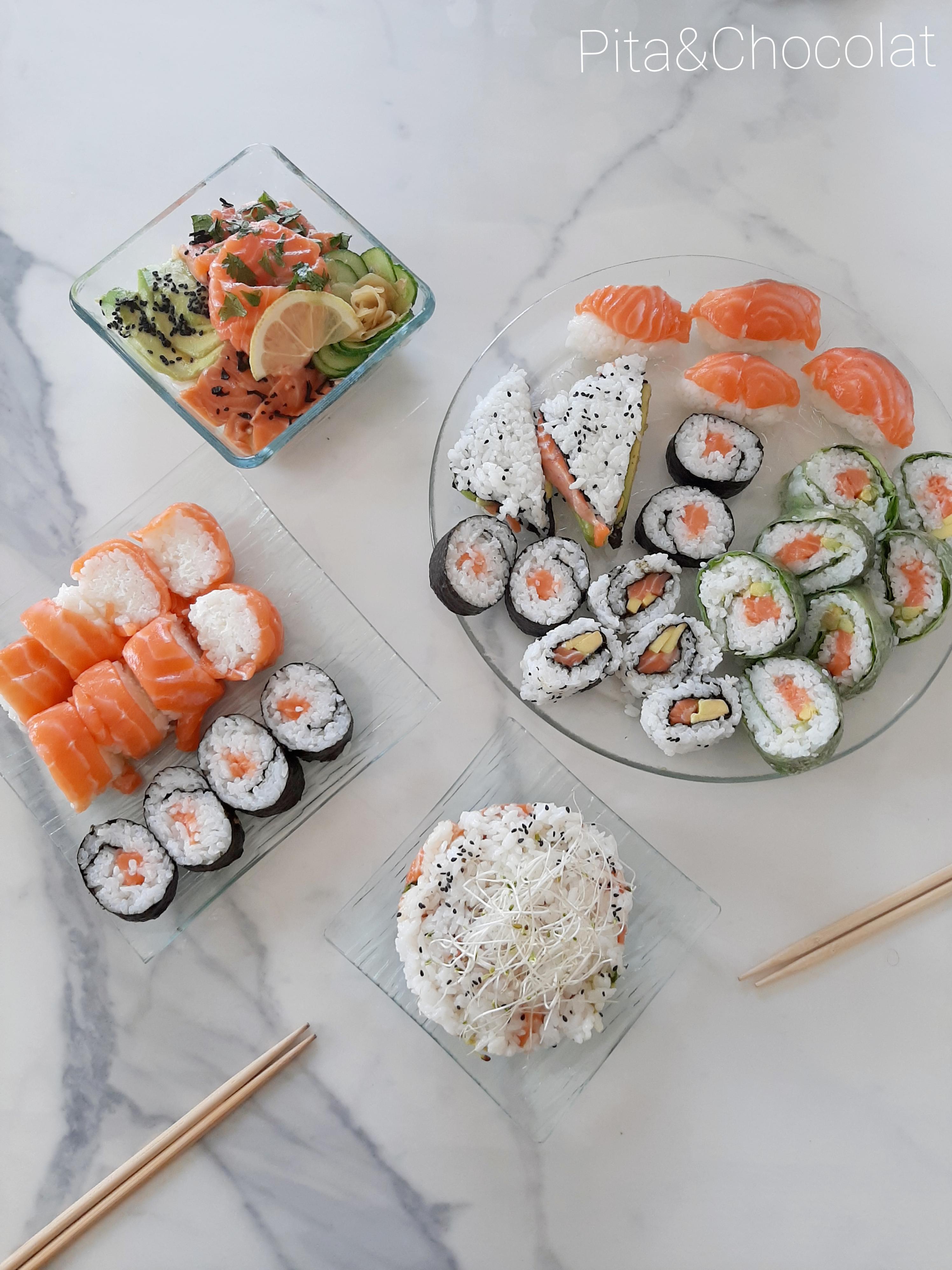 Sushi party - réaliser un repas japonais tout saumon