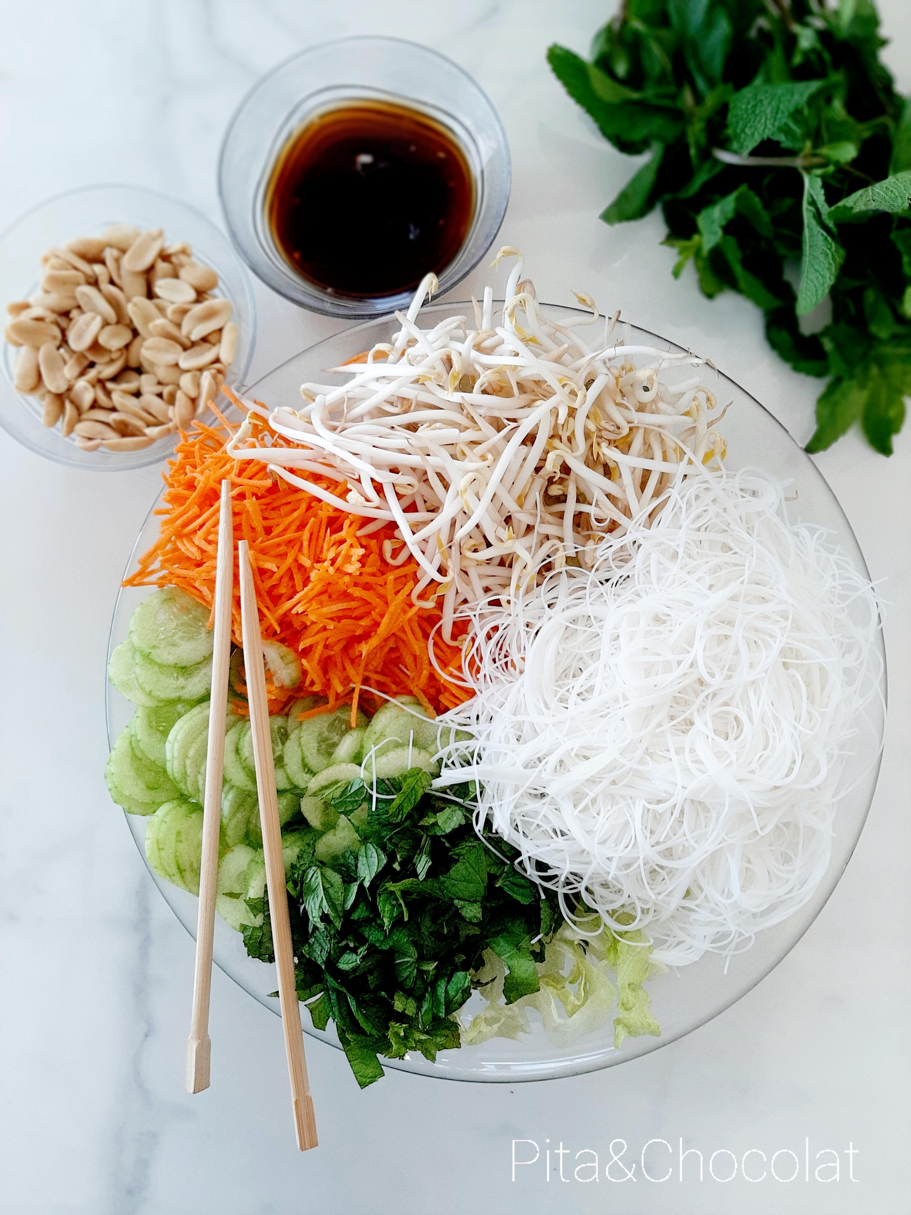 Bo Bun d'été - salade vietnamienne