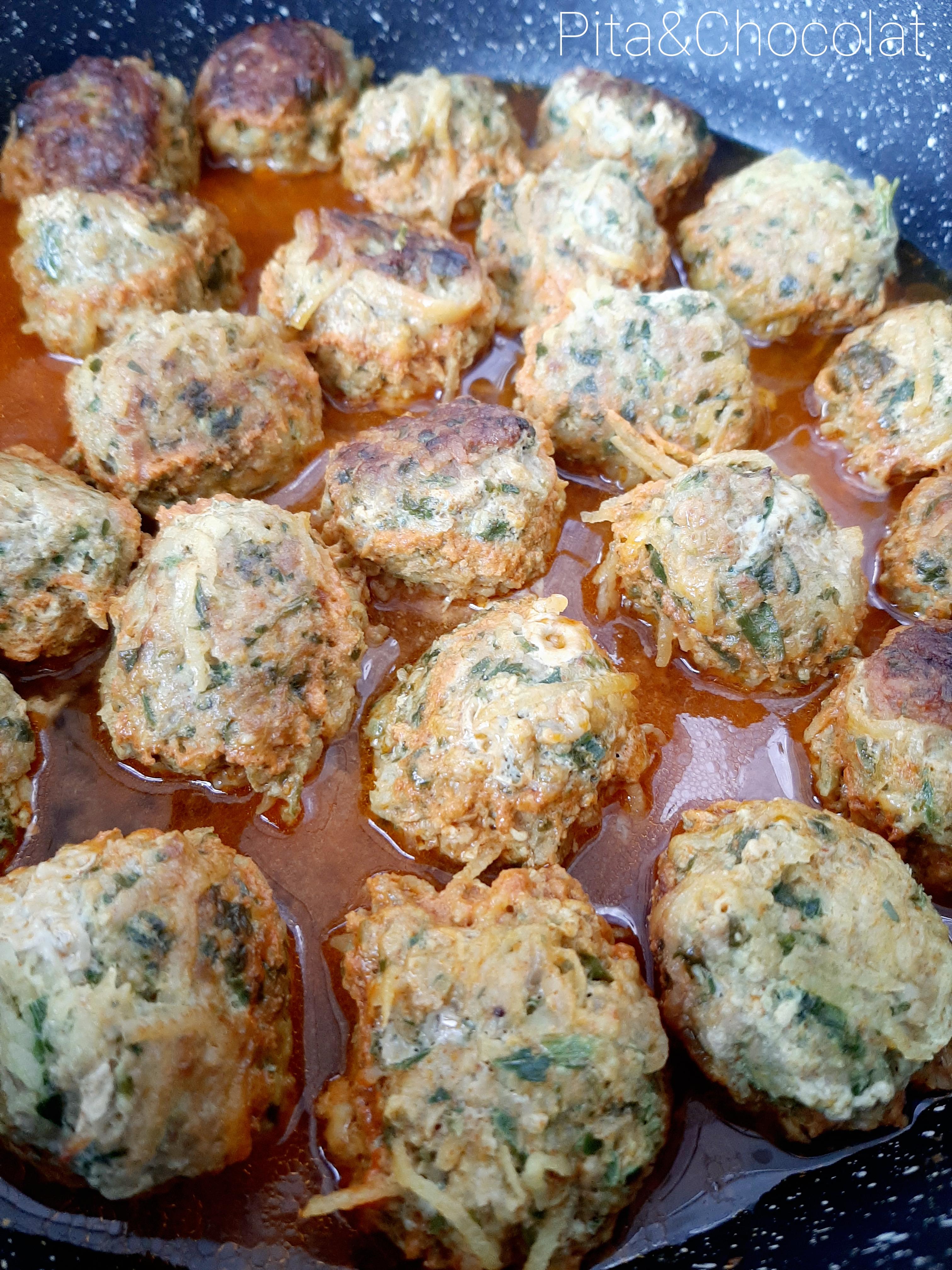Boulettes de poulet sauce légère