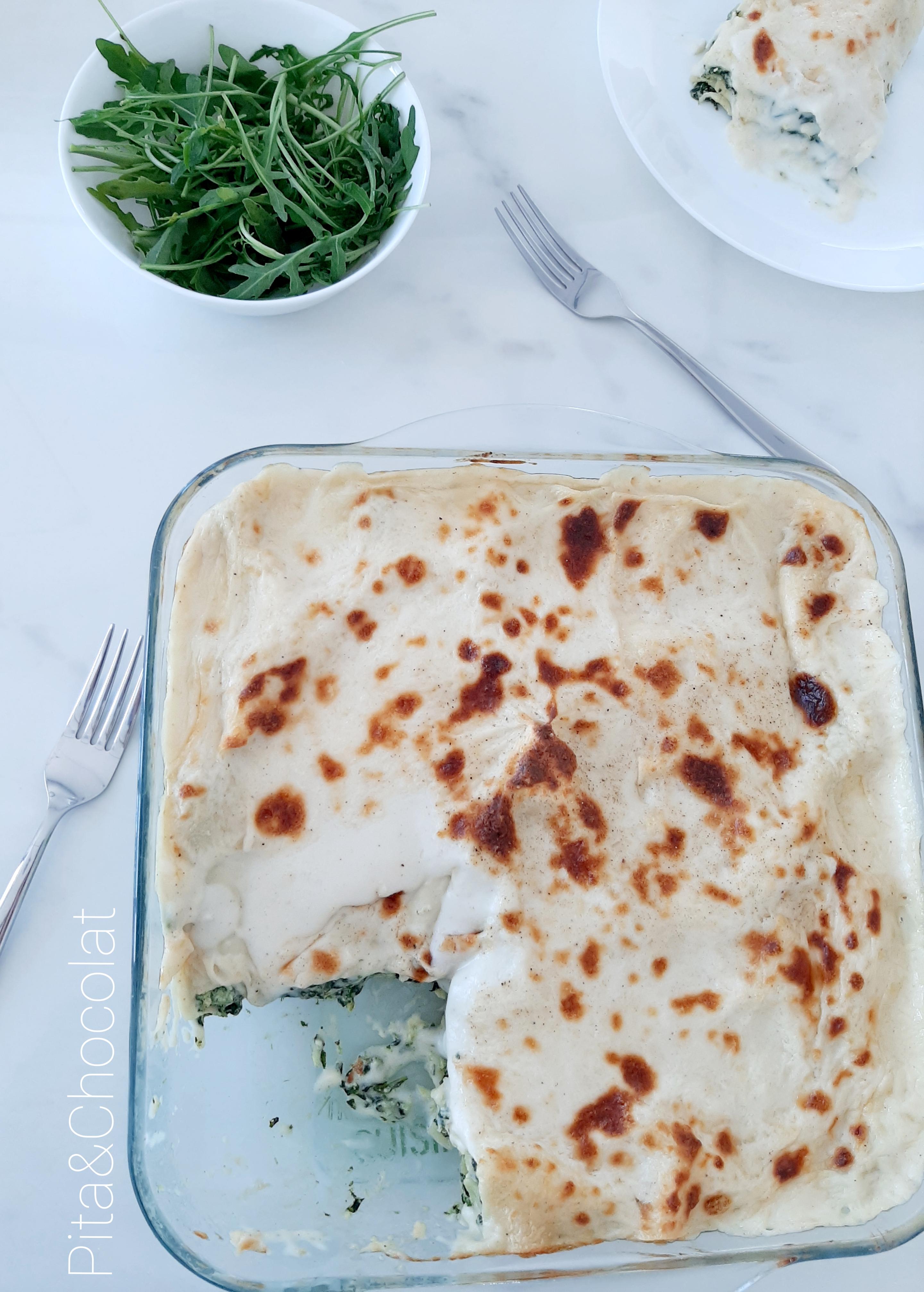 Lasagne ricotta épinards grâtinées