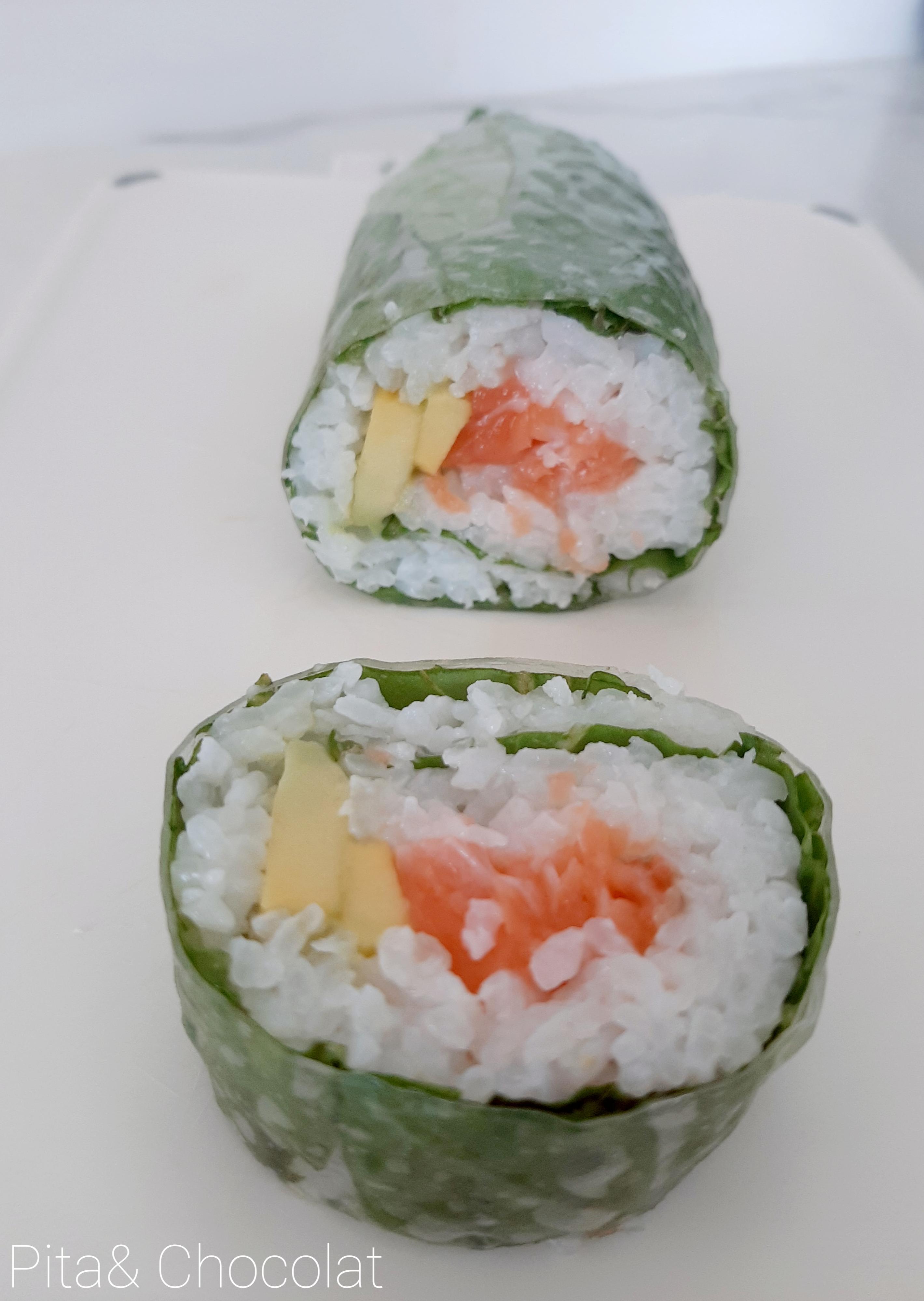 Makis printemps saumon avocat