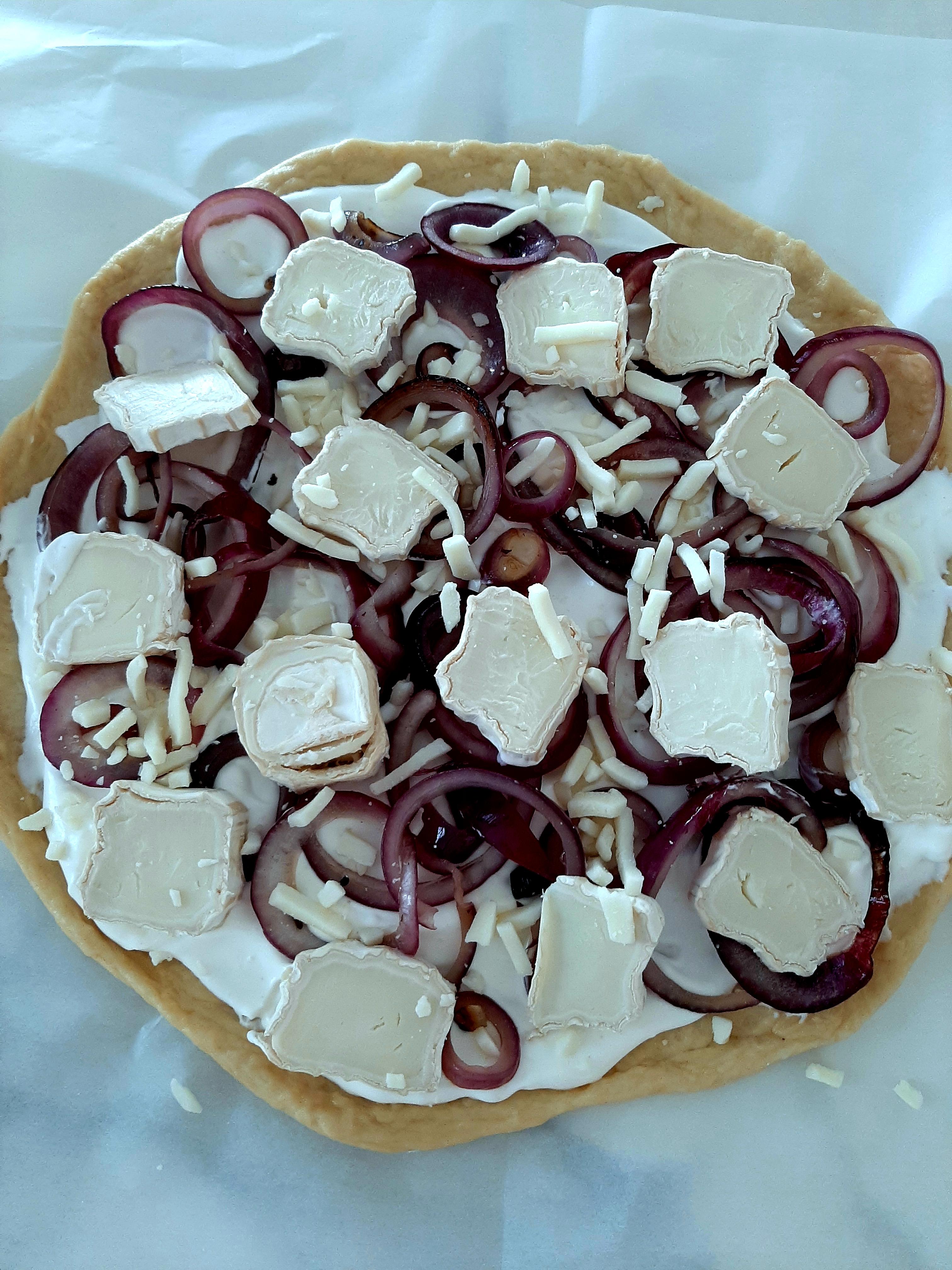 pizza blanche champignon crème