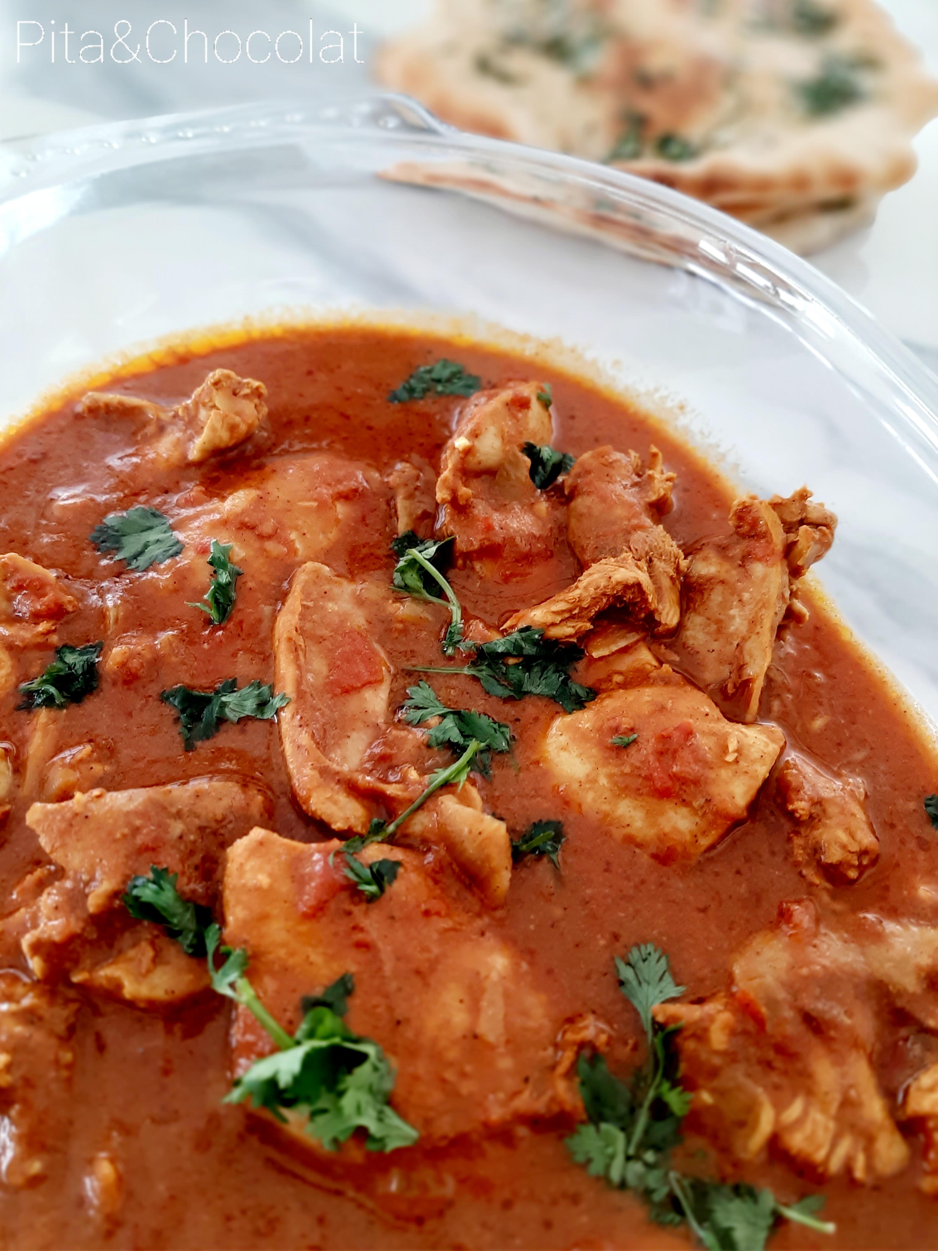 Poulet Tikka Massala - curry indien au poulet
