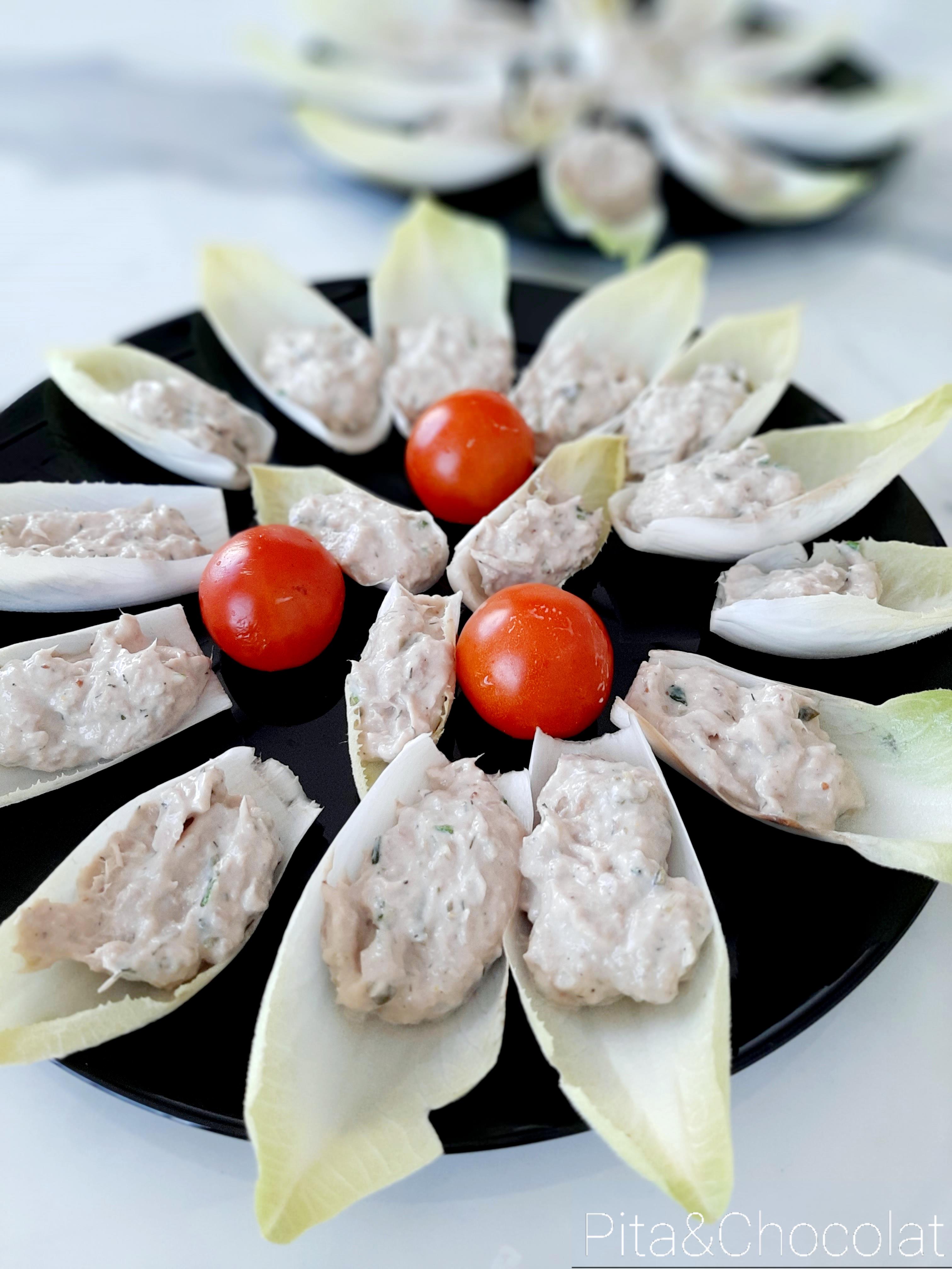 Rillettes de thon en cuillère d'endive