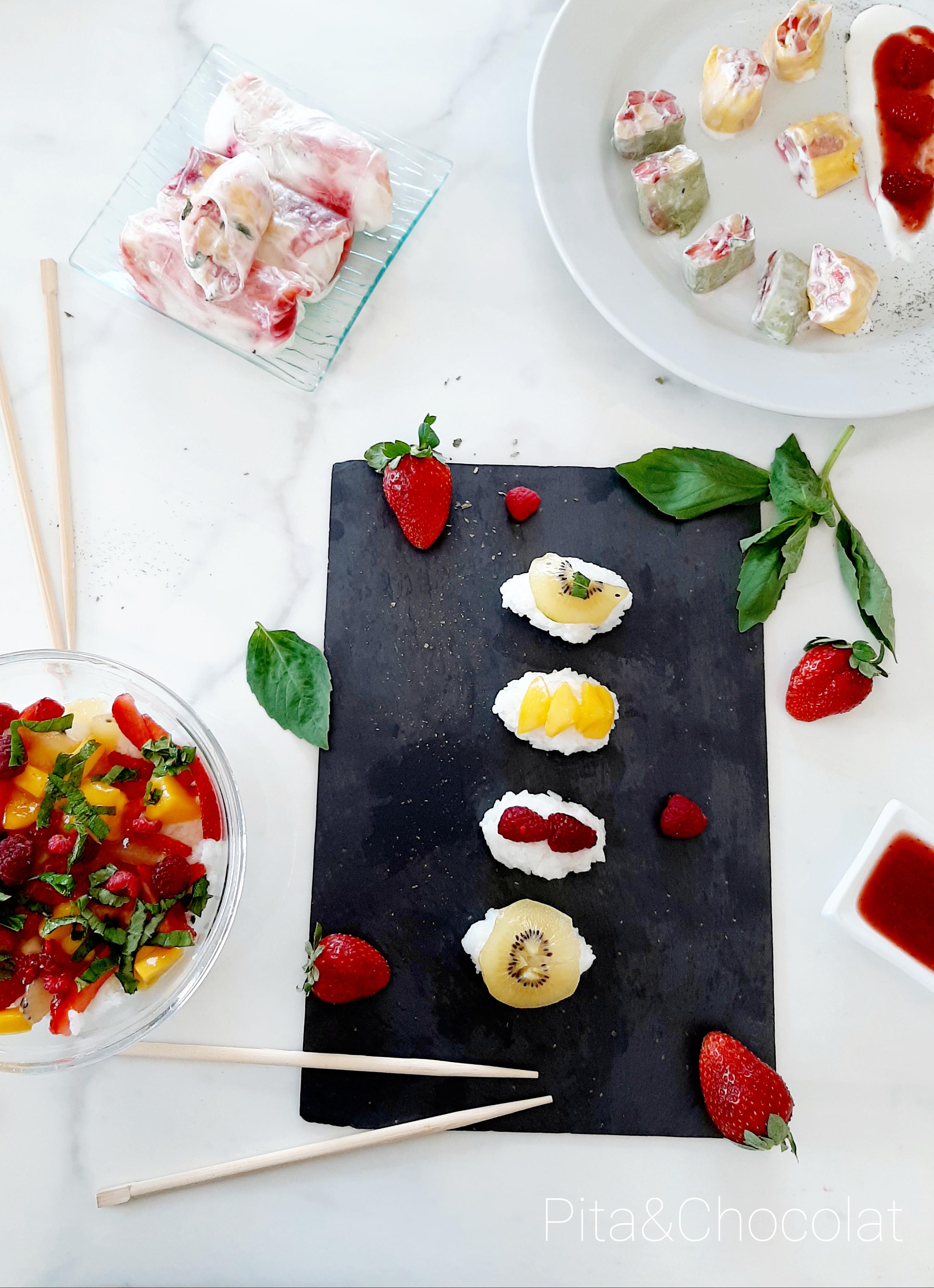 Makis et sushis aux fruits