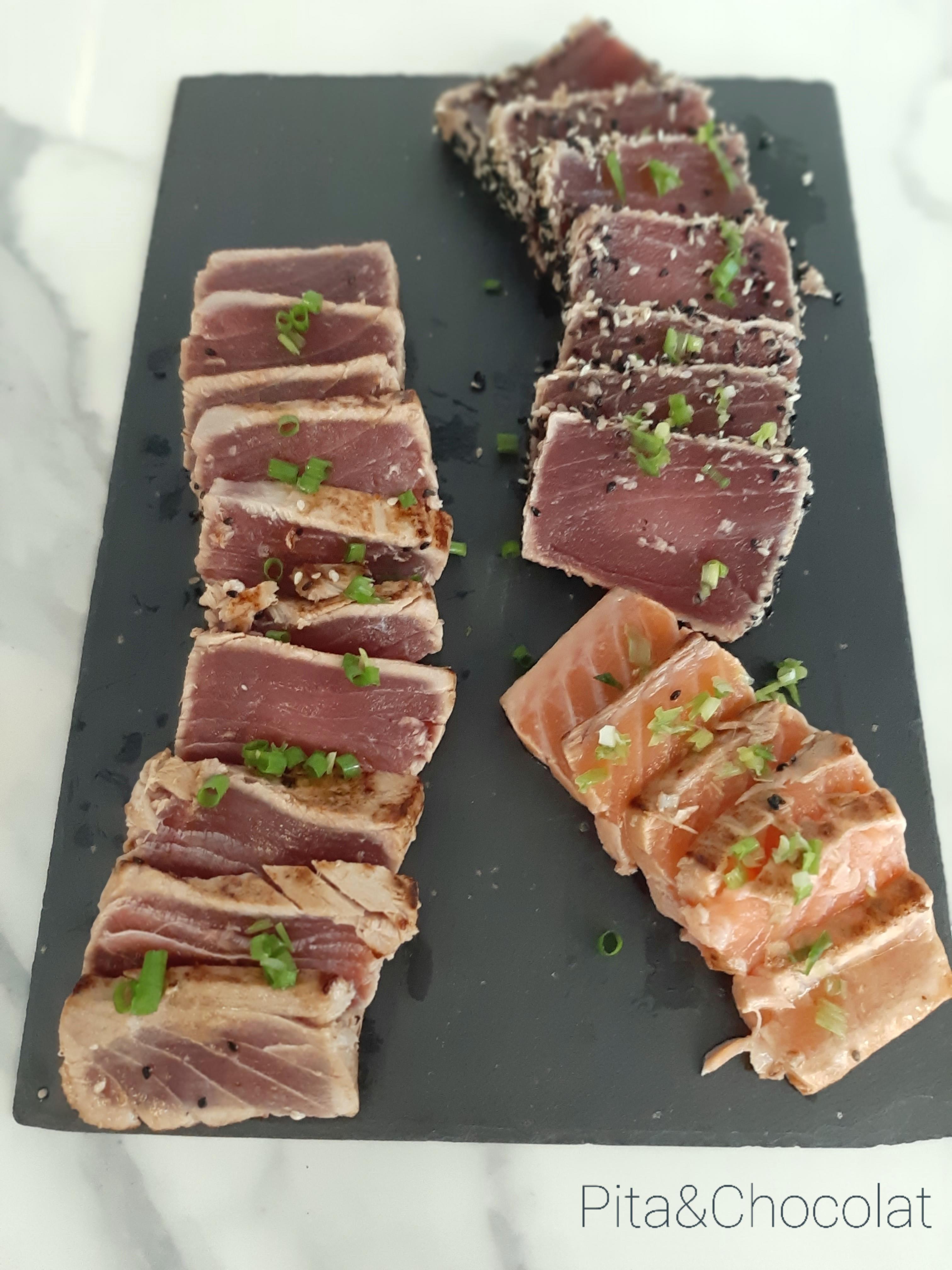 Tataki de thon - tataki de saumon
