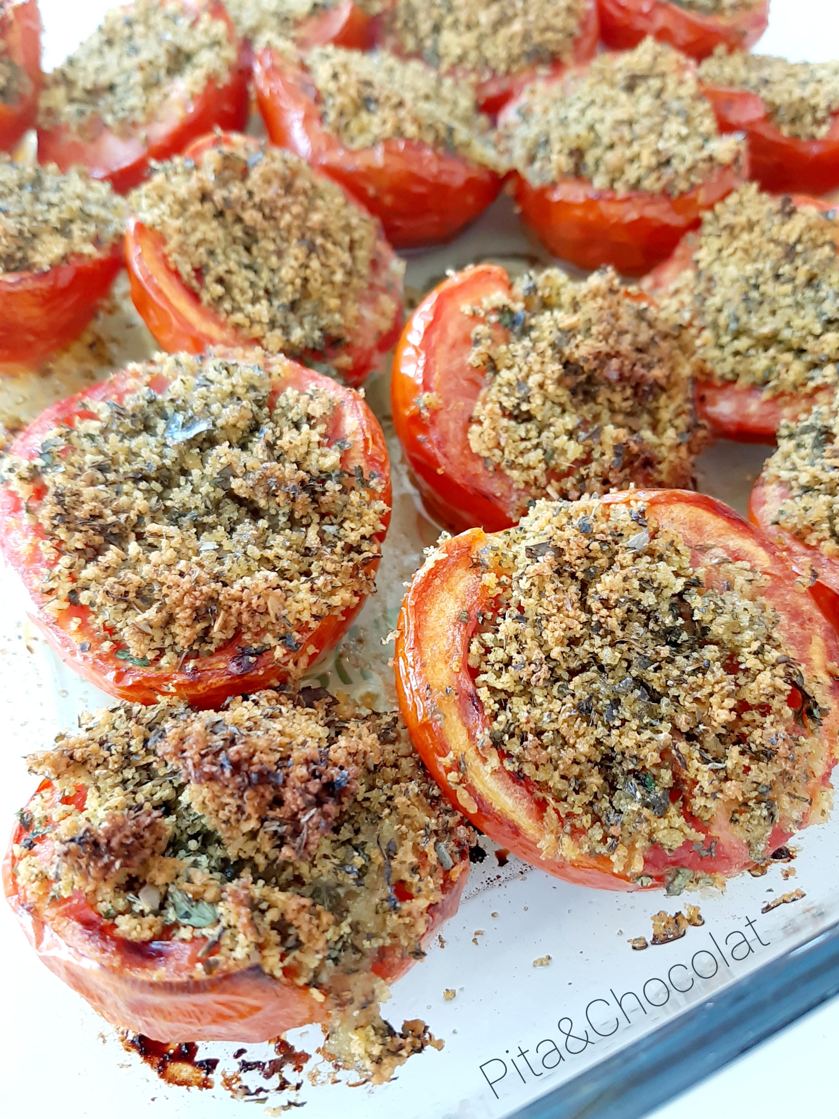 Tomates à la provençale au four
