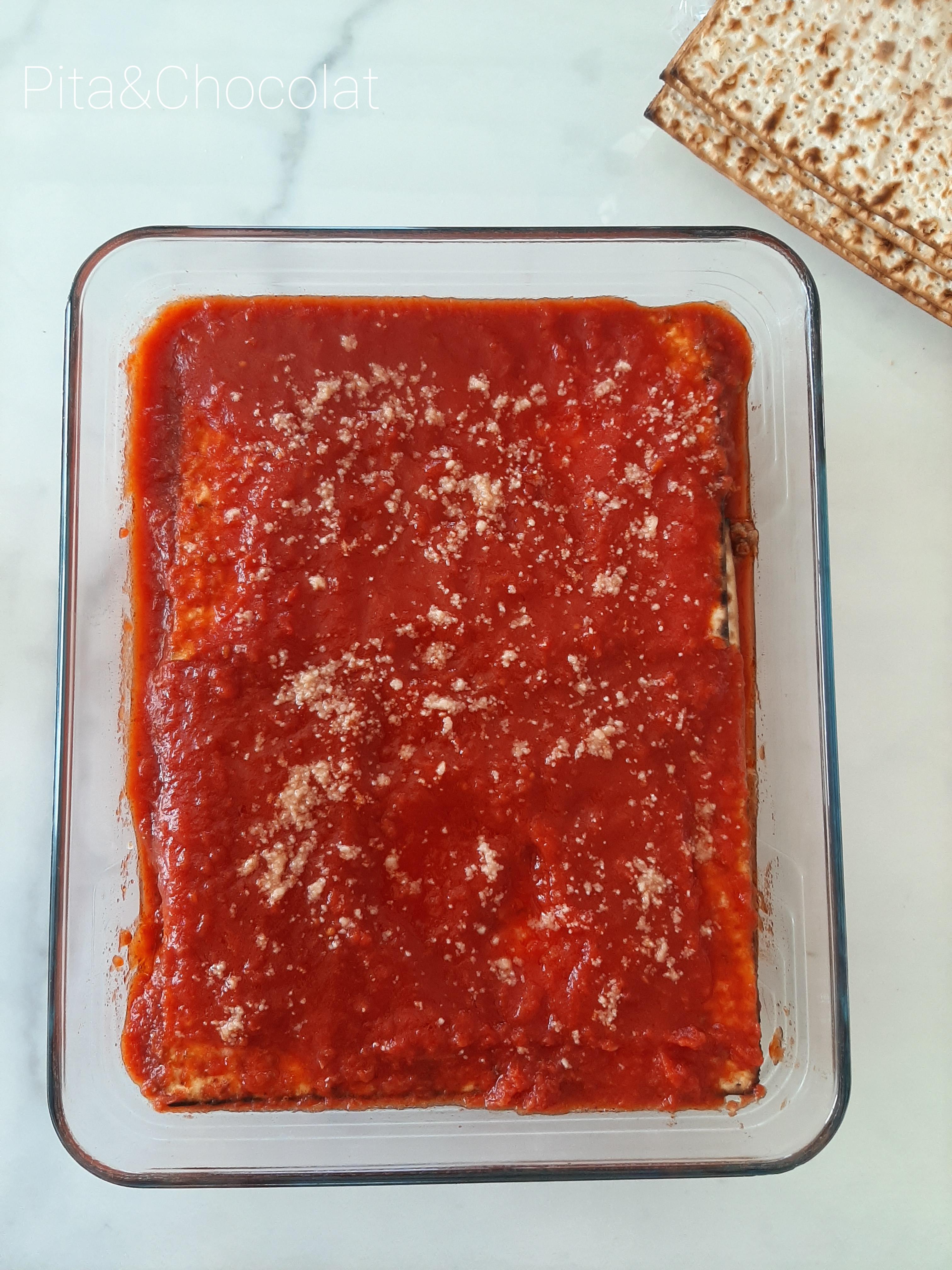 Lasagnes sauce tomate (Pessah)